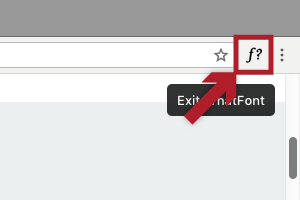 終了する場合は、検索アドレスバーの横にあるアイコンをクリック